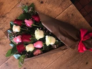 Wrapped Romantic Roses (PICK UP ONLY)