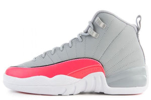 "Air Jordan 12 Retro GS ""Grey / Pink"""