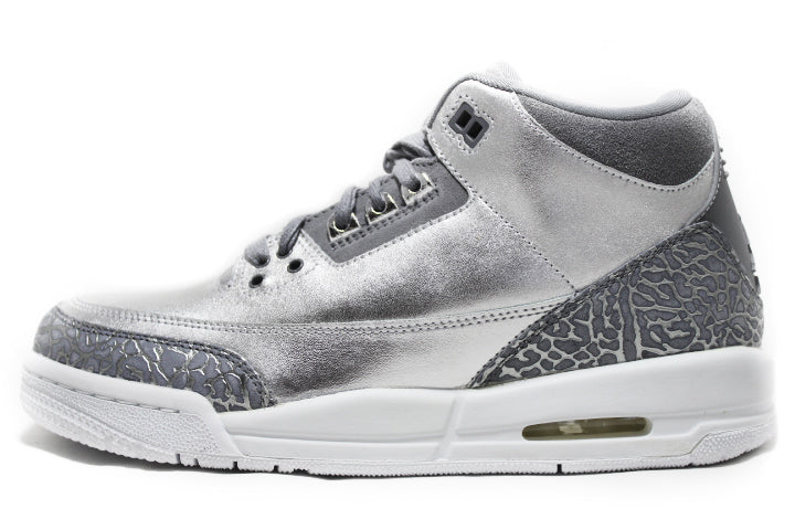 KICKCLUSIVE - Air Jordan 3 Retro Metallic Silver  -Air Jordan 3 Retro Metallic Silver-  Metallic Silver 3- Jordan 3 Metallic Silver - Retro 3 -Metallic Silver 3s -Jordan 3 for sell- Jordan 3 for Sale- AJ3-  Metallic Silver Jordan Threes-Metallic Silver Jordan 3-  Metallic Silver Jordans - GS AJ3 - AJ3 Metallic Silver GS-1