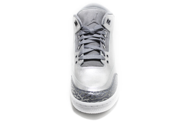 KICKCLUSIVE - Air Jordan 3 Retro Metallic Silver  -Air Jordan 3 Retro Metallic Silver-  Metallic Silver 3- Jordan 3 Metallic Silver - Retro 3 -Metallic Silver 3s -Jordan 3 for sell- Jordan 3 for Sale- AJ3-  Metallic Silver Jordan Threes-Metallic Silver Jordan 3-  Metallic Silver Jordans - GS AJ3 - AJ3 Metallic Silver GS-2