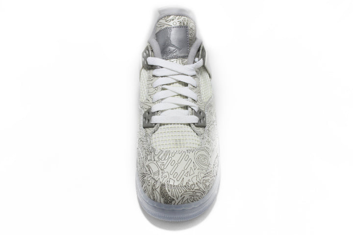 KICKCLUSIVE - Air Jordan 4 Retro Anniversary Laser -Air Jordan 4 Retro Anniversary Laser-Anniversary Laser 4- Jordan 4 Anniversary Laser -Retro 4- Anniversary Laser 4s -Jordan 4 for sell- Jordan 4 for Sale- AJ4- Anniversary Laser Jordan Fours- Anniversary Laser Jordan 4- Anniversary Laser Jordans - GS Laser - AJ4 Laser GS - Gs AJ4-2