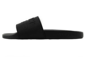 GUCCI Logo Rubber Slide BLACK