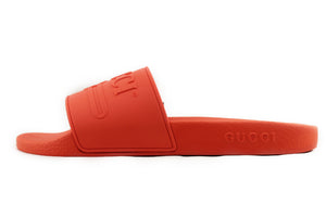 GUCCI Logo Rubber Slide ORANGE