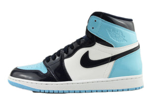 "WMNS Air Jordan 1 Retro High OG ""UNC Patent Leather"" Size 11W PRE-OWNED*"