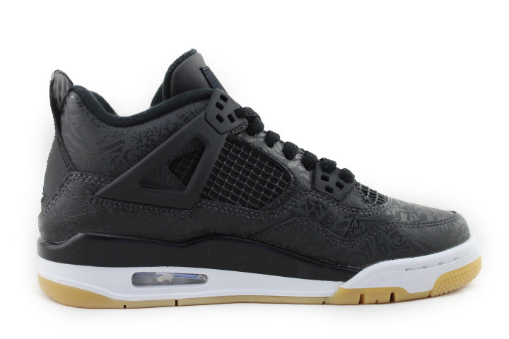 "Air Jordan 4 Retro GS ""Laser Black Gum"""