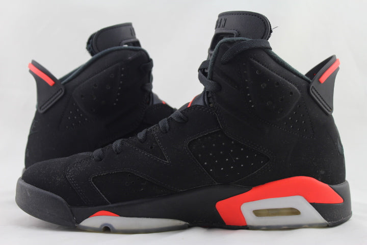 "Air Jordan 6 Retro ""Black/Infrared"" 2019 Size 10 PRE-OWNED*"