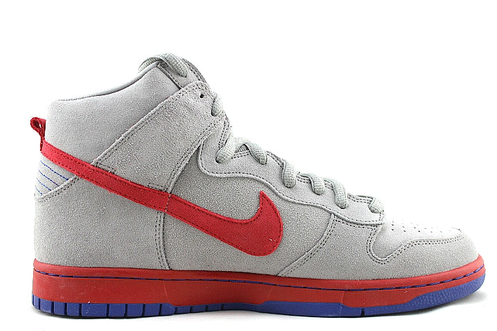 Nike SB Dunk High Medium Grey Varsity Red Old Royal
