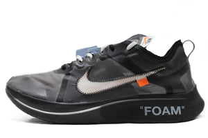 "OFF-WHITE X Nike Zoom Fly ""BLACK SILVER"" Size 13"