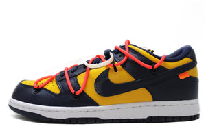 "OFF-WHITE x Dunk Low Off-White ""University Gold Midnight Navy"""