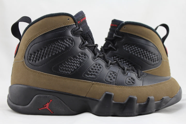"Air Jordan 9 Retro ""Olive"" 2012 Size 9 PRE-OWNED*"