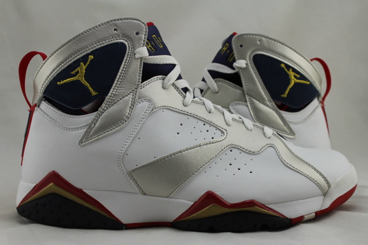 "Air Jordan 7 Retro ""Olympic"" 2004 Size 12 PRE-OWNED*"