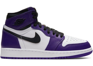 Air Jordan 1 Retro High Court Purple White (GS)