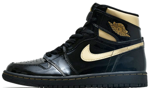 "Air Jordan 1 High Patent ""Black/Gold"""