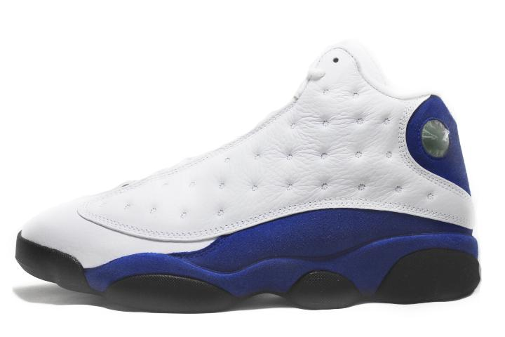 "Air Jordan 13 Retro ""White Hyper Royal Black"""