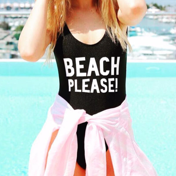 BEACH PLEASE SWIMSUIT
