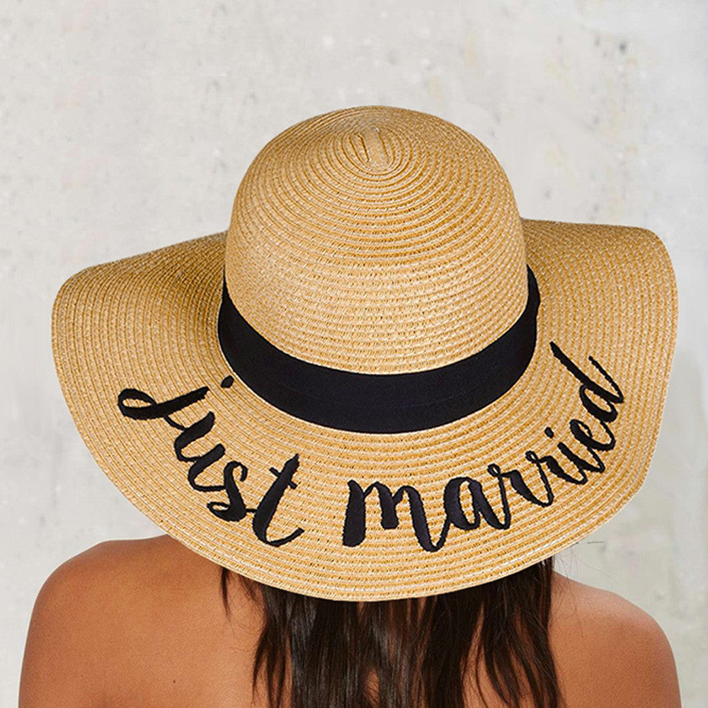 JUST MARRIED SUN HAT – Crowned Queen Clothing e948362128d