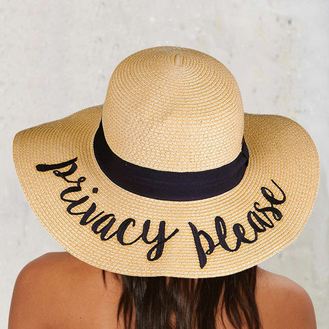 PRIVACY PLEASE SUN HAT
