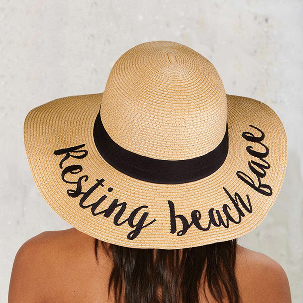 RESTING BEACH FACE SUN HAT – Crowned Queen Clothing 53d0f5e1203
