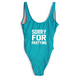 SORRY FOR PARTYING SWIMSUIT