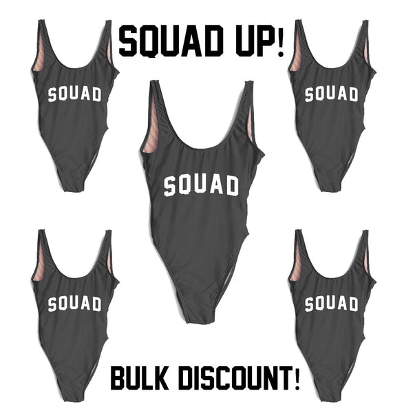 SQUAD SWIMSUIT 5 SUIT BULK DISCOUNT