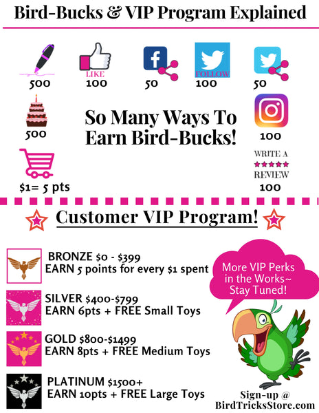 BirdTricksStore | Rewards Program