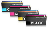 Compatible 4 Colour Kyocera Laser Toner TK-580 Cartridge Multipack Replaces Kyocera TK580K/C/M/Y
