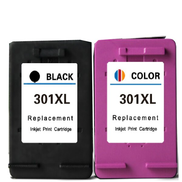 HP Compatible ink Cartridges 301XLB Black and 301XLC Colour ink Cartridges