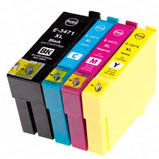 1 Set 34XL Replacement Epson Compatible Inks WorkForce Pro WF-3720DWF, 3725DWF