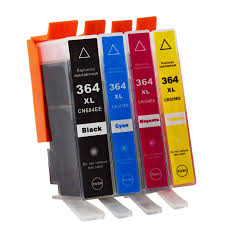 Set of 4,   364XL HP Compatible Inks. Black, Cyan, Magenta, Yellow