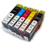 Set of 5, 364XL HP Compatible Inks (Includes small photo black)