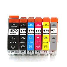 Full Set of 6 570/571 XL Canon Compatible Inks with latest chips
