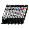 1 x Set 6,  580/581XXL Canon Compatible Ink, PGI-580. CLI-581