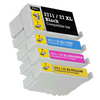 27XL Epson Compatible Ink Cartridges T2711 Black, T2712 Cyan, T2713 Magenta, T2714 Yellow  Full Set