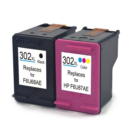 Choose any 1 HP Compatible ink Cartridges 302XLB Black or 302XLC Colour ink Cartridge