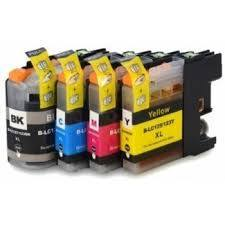 Brother LC125XL LC127 XL Set 4 Compatible Inks