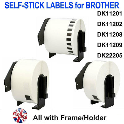 Rolls of Compatible Brother Labels DK11202 For Brother Printers with Frames.