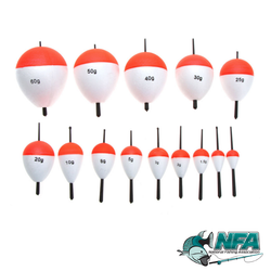14pc Red & White Floaters