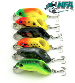 6Pc Hard Frog Lures