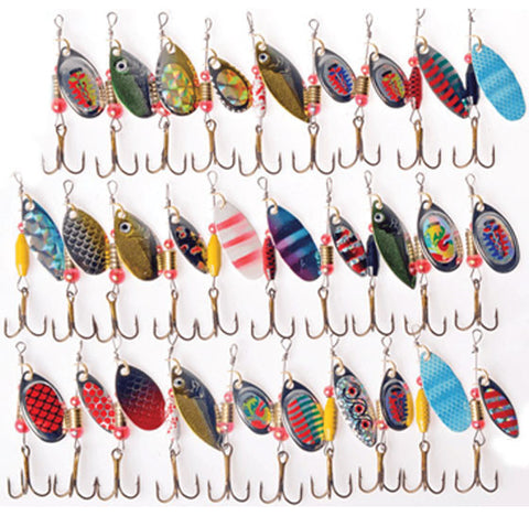 30 Pc Spinning Lure Set - National Fishing Association