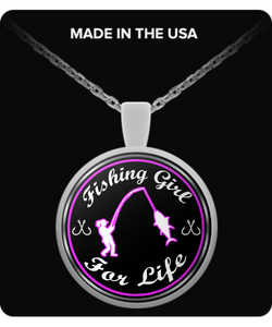 Fishing Girl For Life (NECKLACE) - Limited Edition - National Fishing Association