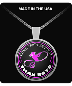 Girls Fish Better Than Boys (NECKLACE) - Exclusive - National Fishing Association
