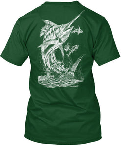 NFA Official Marlin Tee And Sticker - National Fishing Association
