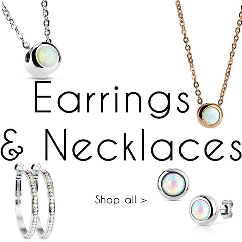 Earrings and Necklaces fashion accessories