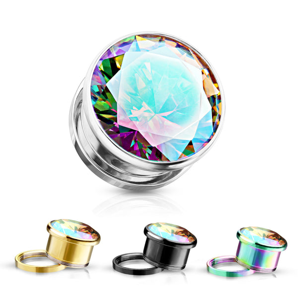 PAIR Aurora Borealis Screw-Fit Plugs