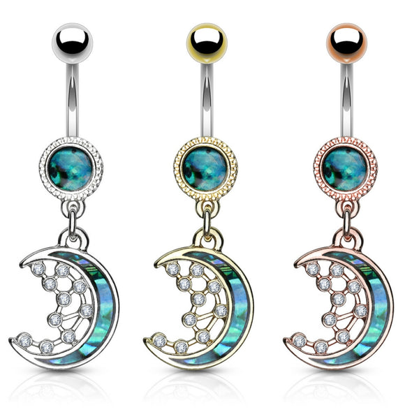 Crescent Moon Belly Button Ring