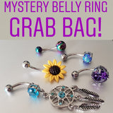 five piece mystery belly ring grab bag