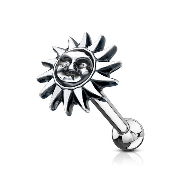 Smiling tribal sun cartilage ring