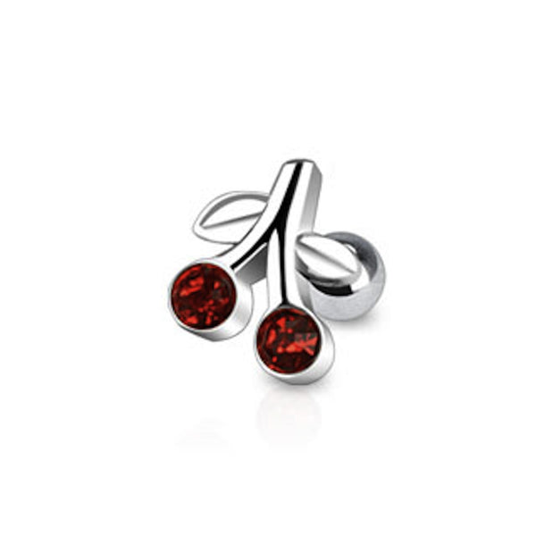 Red Cherry Cartilage/Tragus Ring