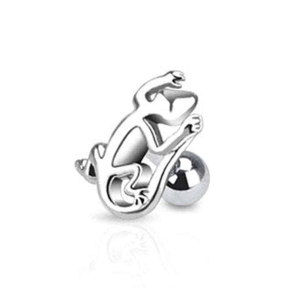 Gecko Surgical Steel Cartilage/Tragus Ring
