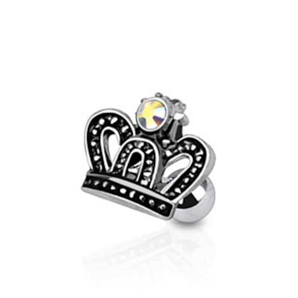 Royal Crown Cartilage/Tragus Ring